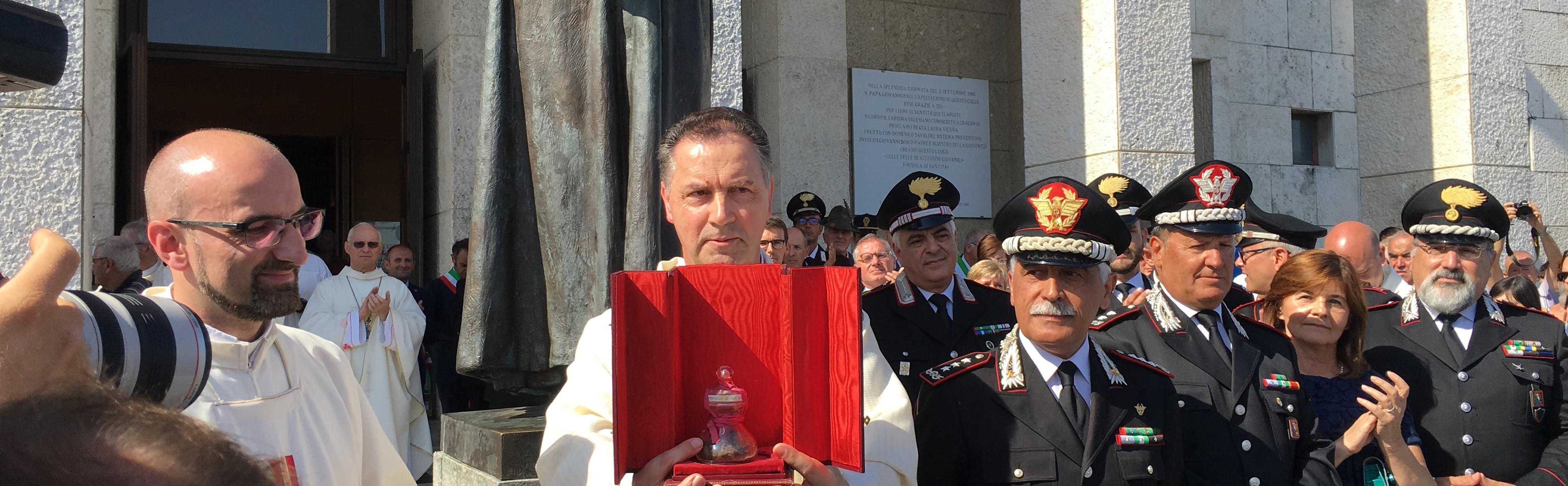 Ricollocazione della reliquia di don Bosco